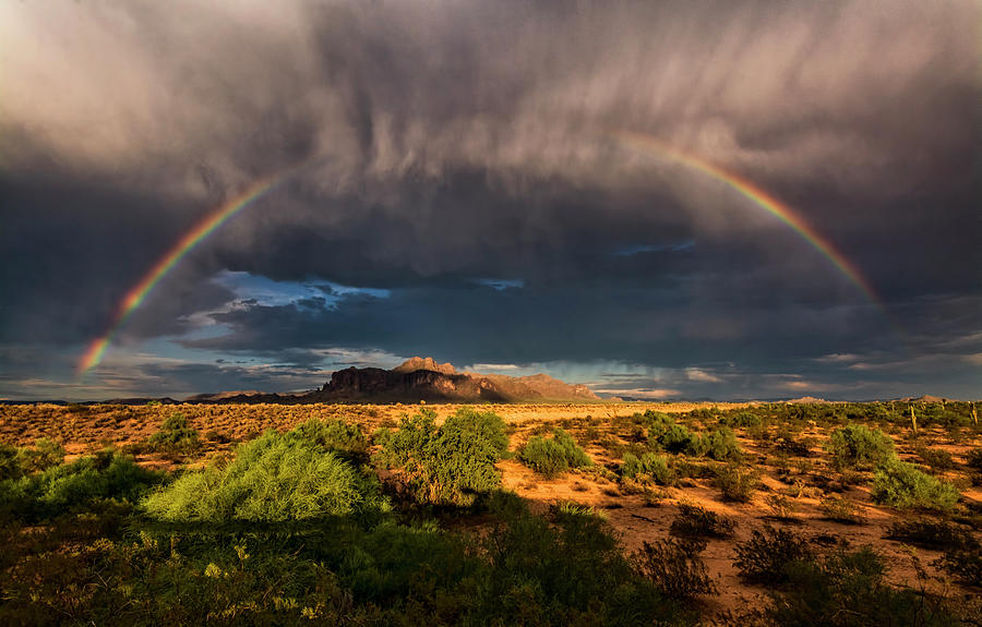 Arizona Photograph - Rain And Rainbows  by Saija Lehtonen