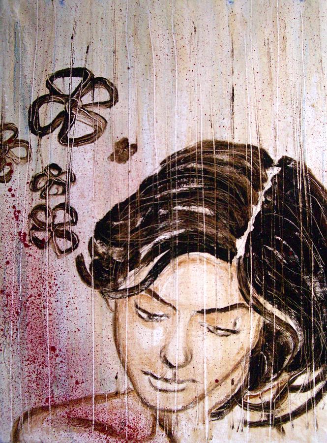 Portrait Painting - Rain by Carlo Moretti