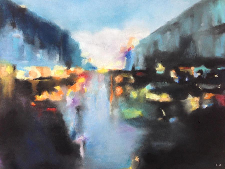 Raining Pastel - Rain Colors by Carrie Diaz
