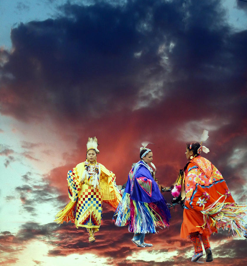 Indians Photograph - Rain Dance Two by Irma BACKELANT GALLERIES