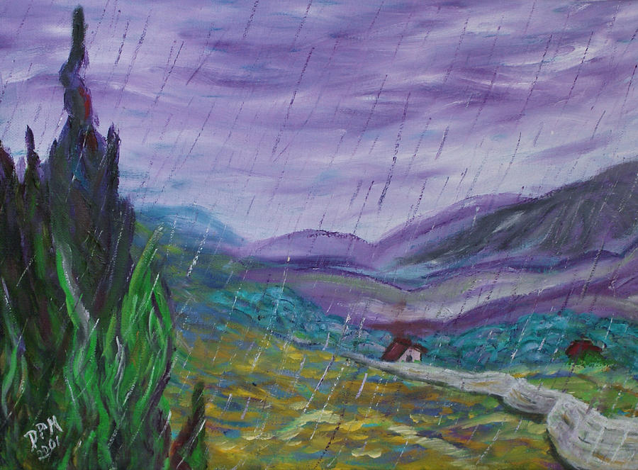 Rain Painting - Rain by David McGhee