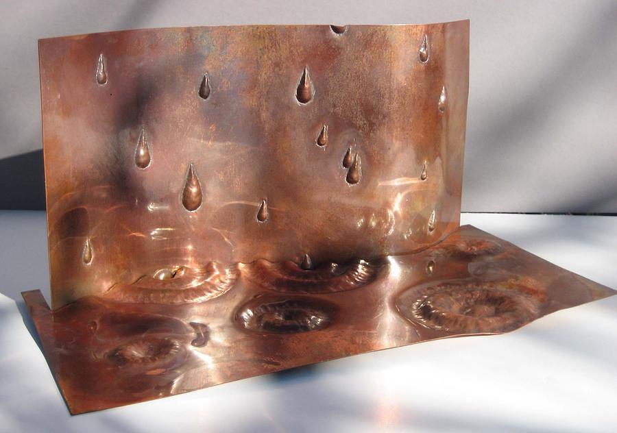 Repousse Sculpture - Rain Drop by Aaron R Williams