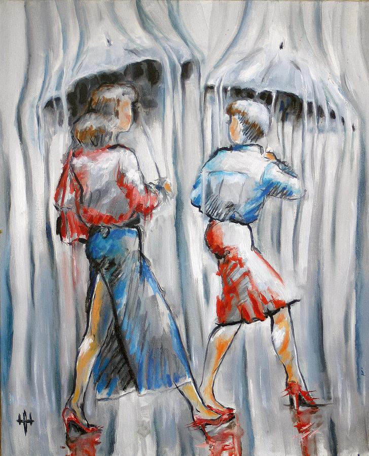 Fairy Painting - Rain Fairies  by Yevgeniy Dubkov