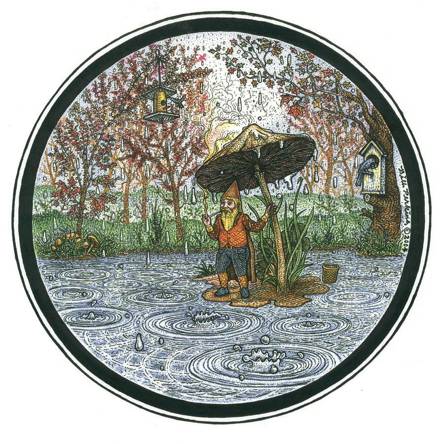 Rain Gnome Rain Circle by Bill Perkins