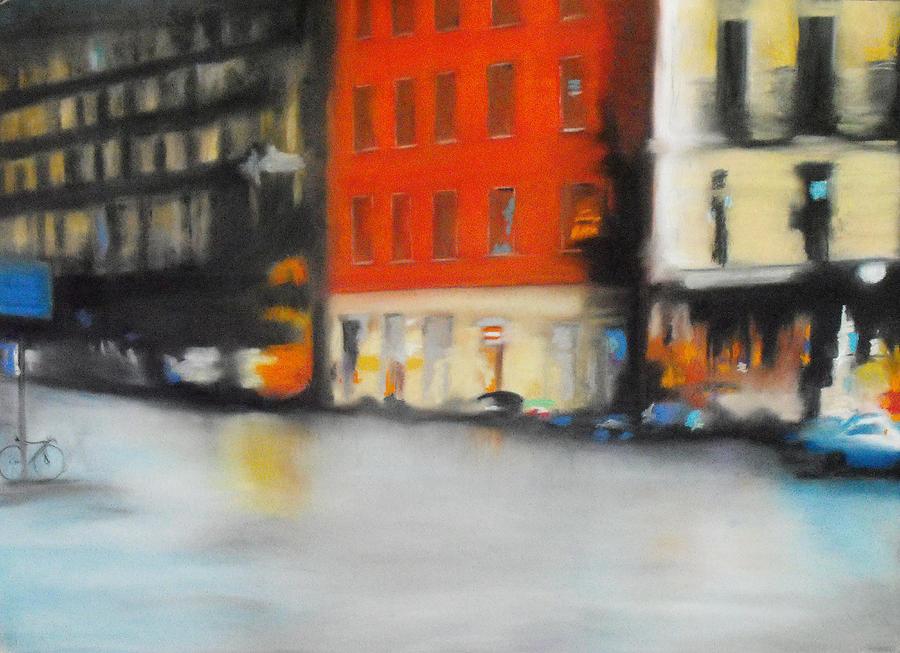 Chalk Pastel Pastel - Rain II by Carrie Diaz