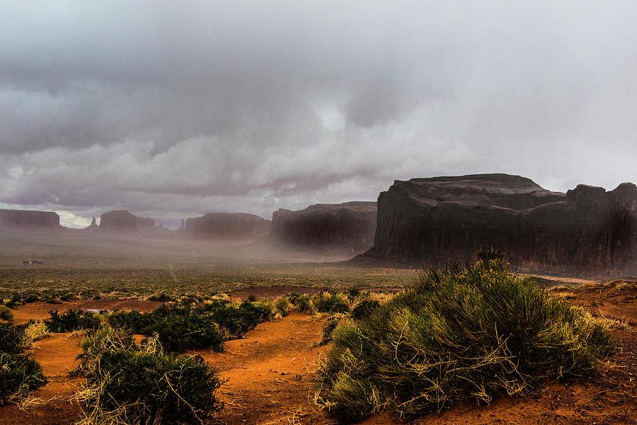 Rain Photograph - Rain in Monument Valley by Roy Nierdieck