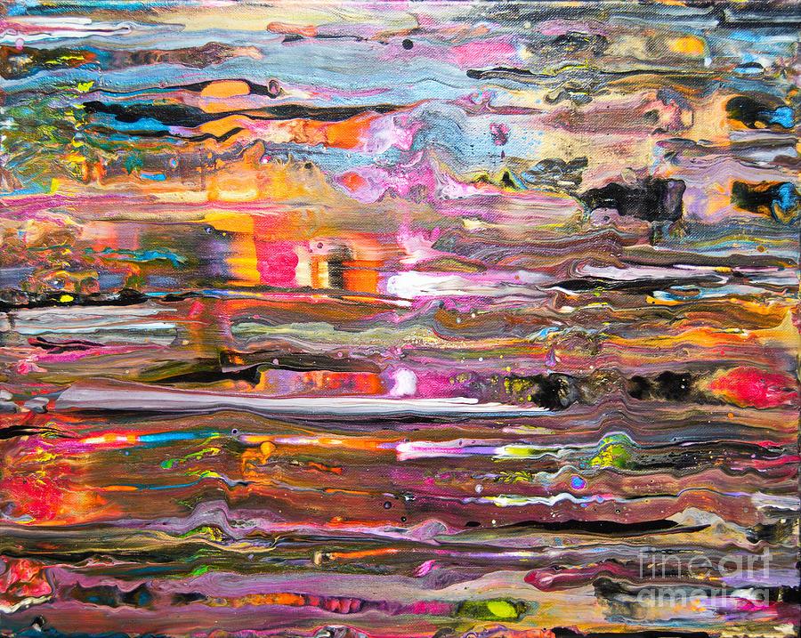 Rain on my window Painting by Priscilla Batzell Expressionist Art Studio Gallery