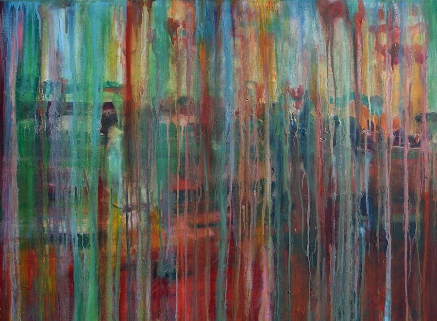 Rain Painting - Rain by Jill Tennison