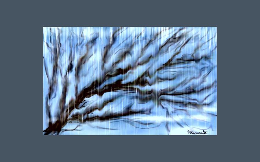 Rain Painting - Rain by Karunita Kapoor