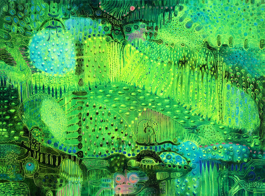 Rain Forest Painting - Rain Land I  by Lolita Bronzini