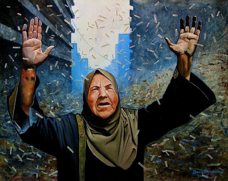 Terror Painting - Rain Of Terror by Doug Strickland