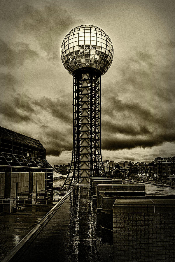Knoxville Photograph - Rain On The Sunsphere by Sharon Popek