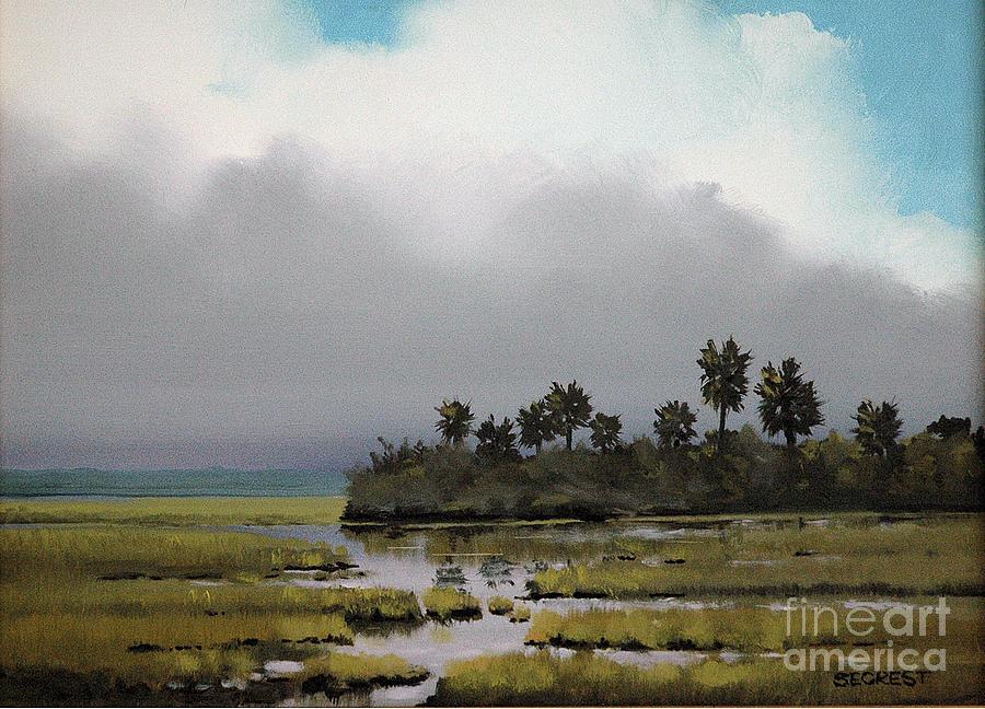 Landscape Painting - Rain On The Way by Glenn Secrest