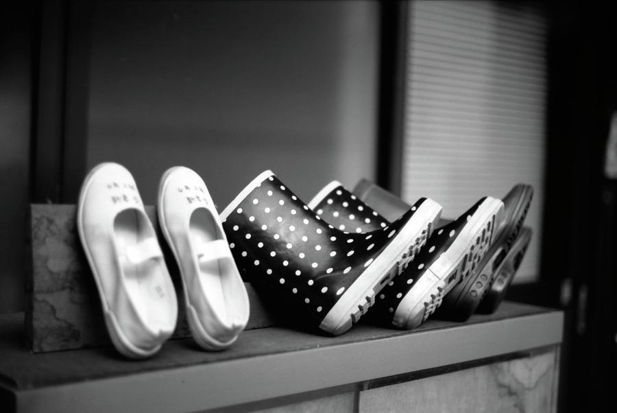 Horizontal Photograph - Rain Shoes by Snap Shooter jp