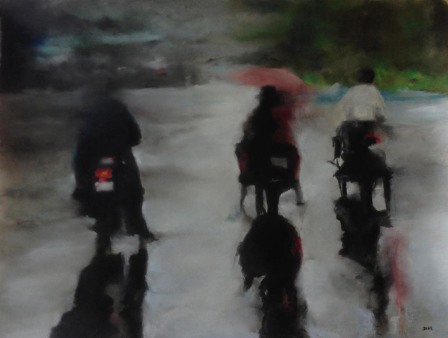 Raining Pastel - Rain Travels by Carrie Diaz