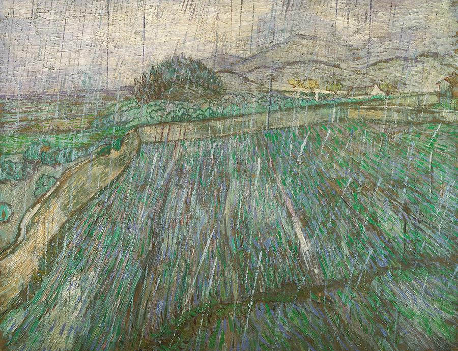 Van Gogh Painting - Rain by Vincent van Gogh