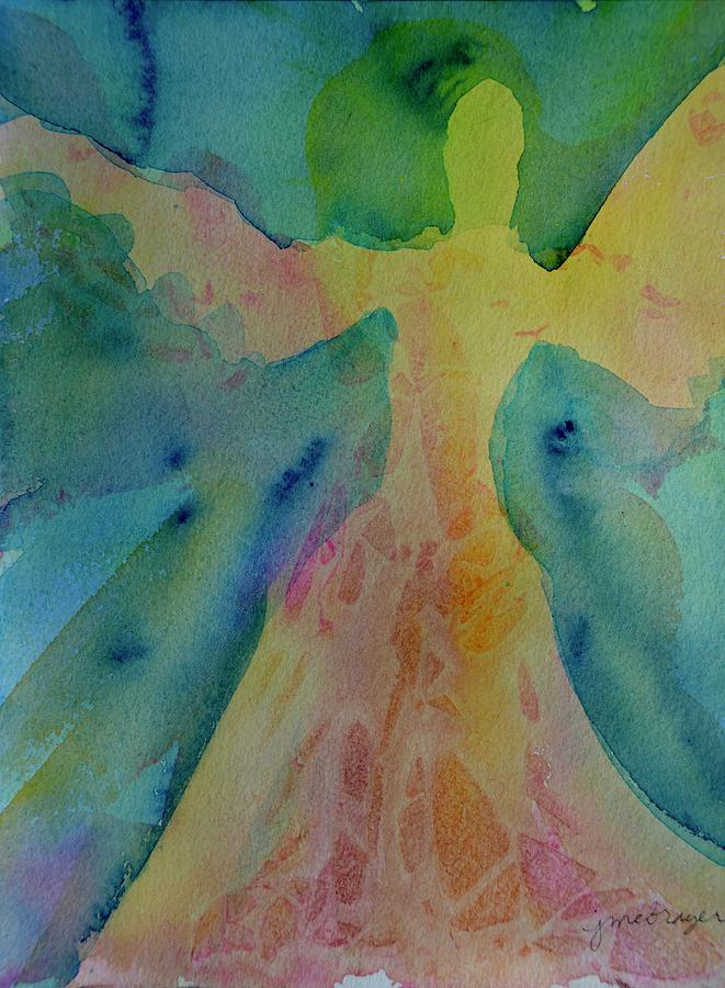 Angel Painting - Rainbow Angel by Jeanne MCBRAYER