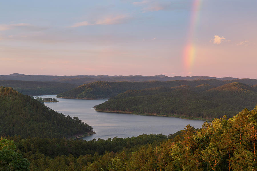 Oklahoma Photograph - Rainbow At Broken Bow Lake by Ryan Friesen