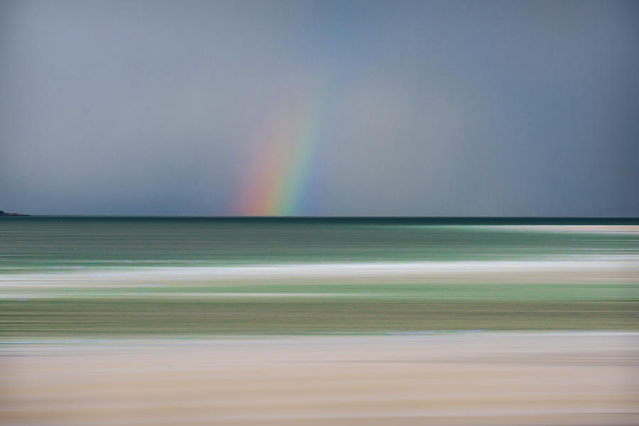 Luskentyre Photograph - Rainbow at Luskentyre by Phillips and Phillips