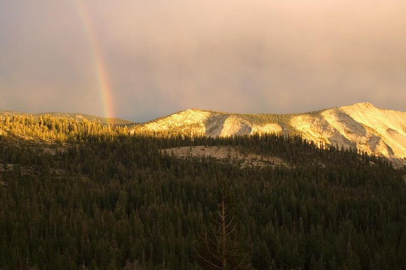 Landscape Photograph - Rainbow At Olmstead Point by Amanda Kiplinger