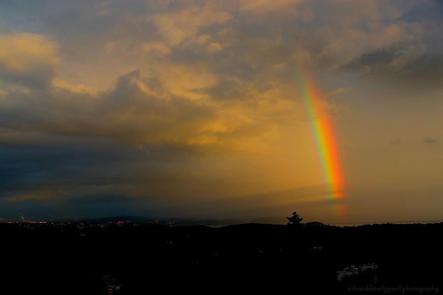 Rainbow At The Dawn Photograph by Edward Pacil