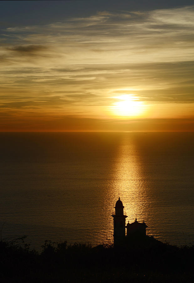 Sunset Photograph - Bell tower at the sunset by Andrea Gabrieli
