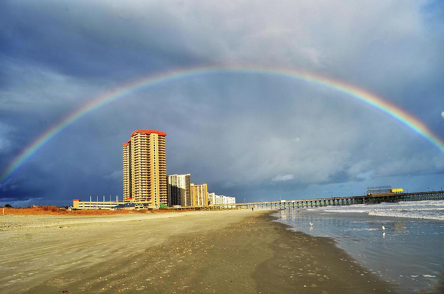 Rainbow Photograph - Rainbow Beach by Kelly Reber