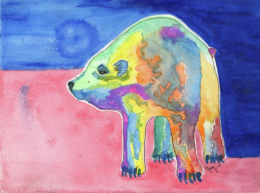 Rainbow Bear Painting by Pjay Mcconnell