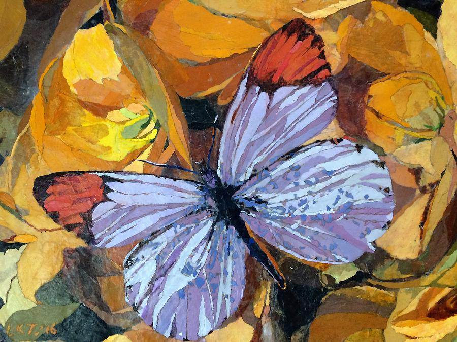 Butterfly Painting - Rainbow Butterfly, For Matisse by Leah Tomaino