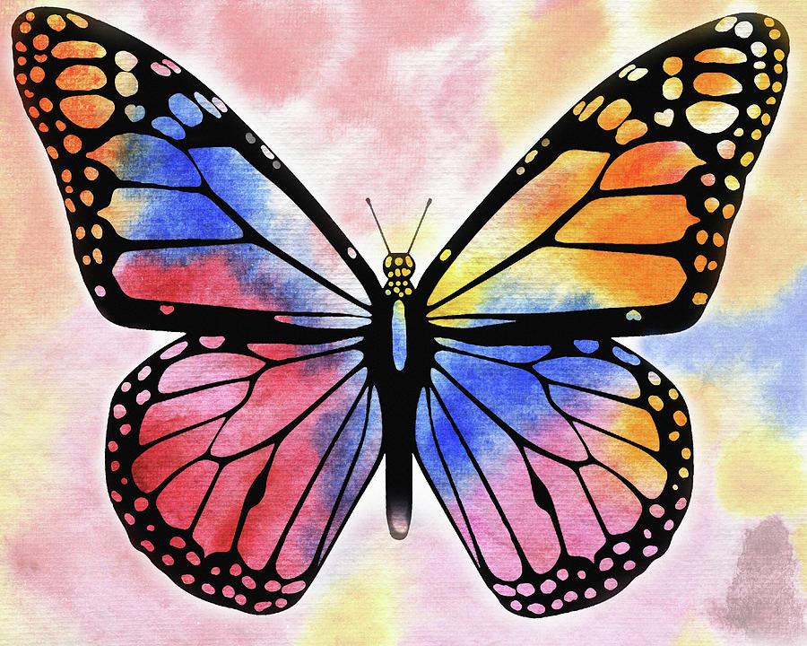 Rainbow Butterfly Painting by Irina Sztukowski