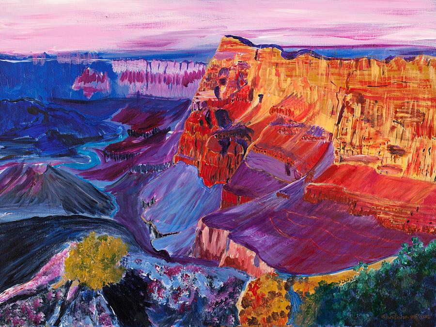 Rainbow Canyon  18 x 24 by Santana Star