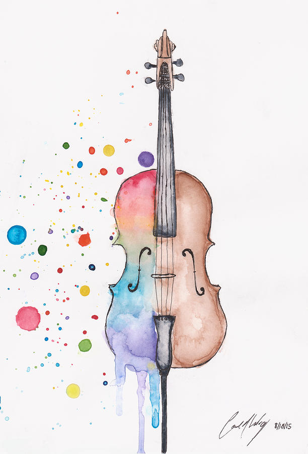 Rainbow Cello Photograph By Carrie Abeling