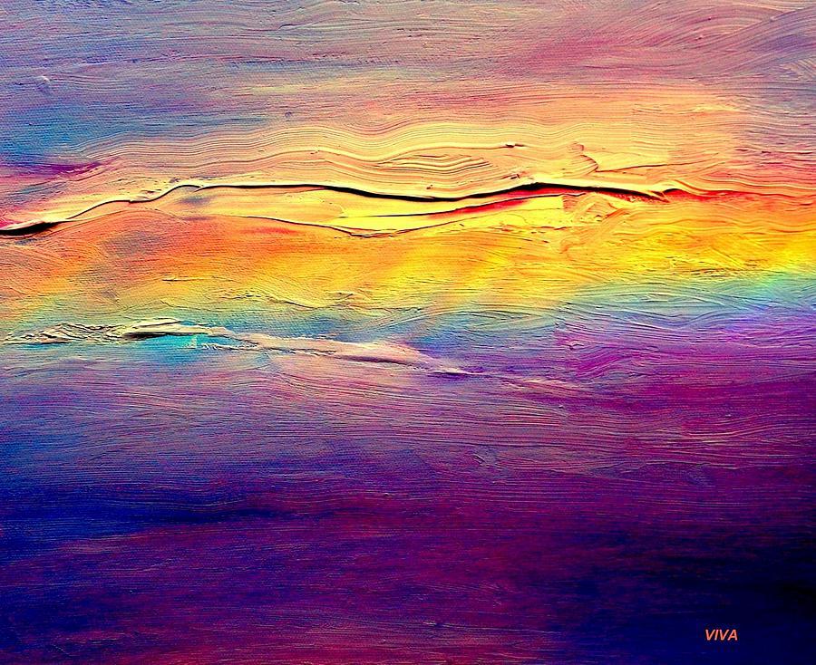 Rainbow Painting - Rainbow Clouds Full Spectrum by VIVA Anderson