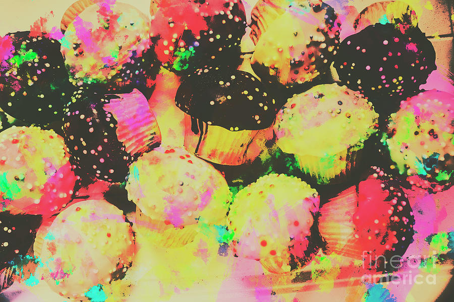 Cupcake Photograph - Rainbow Color Cupcakes by Jorgo Photography - Wall Art Gallery