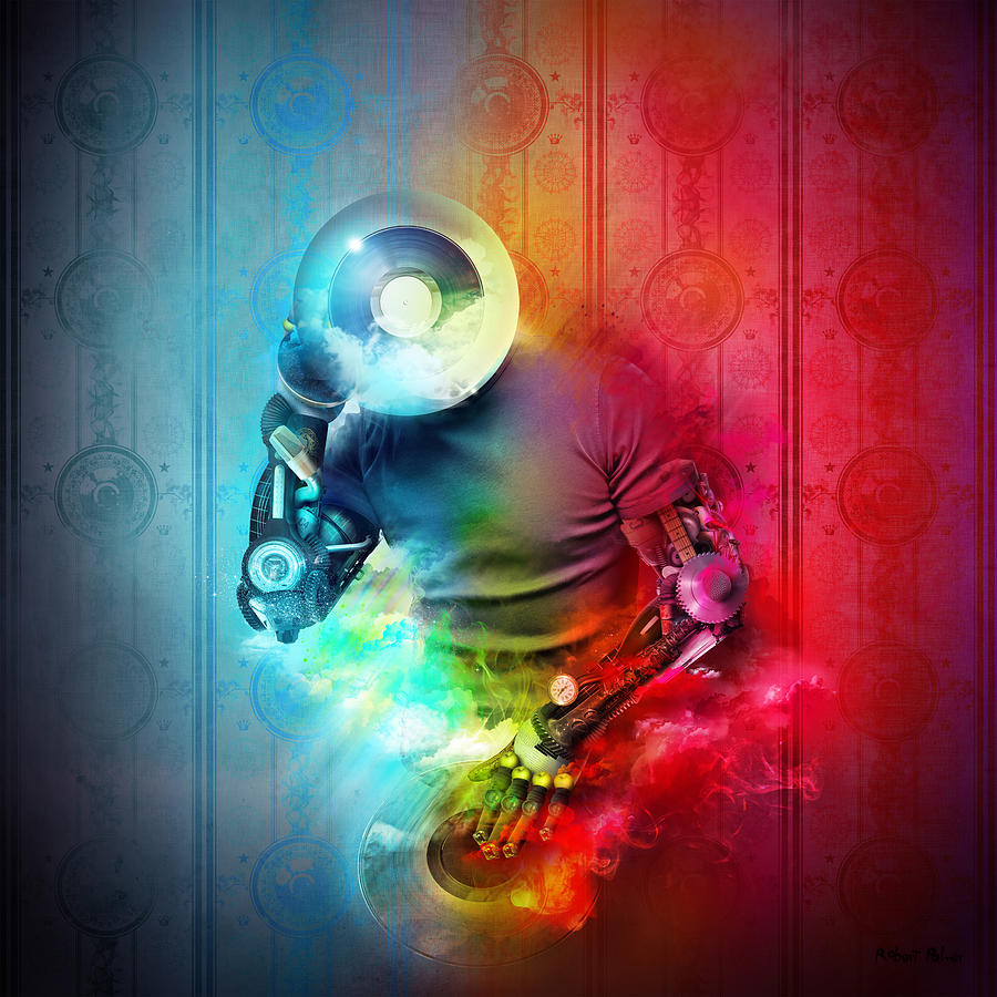 Robert Mixed Media - Rainbow Dj by Robert Palmer