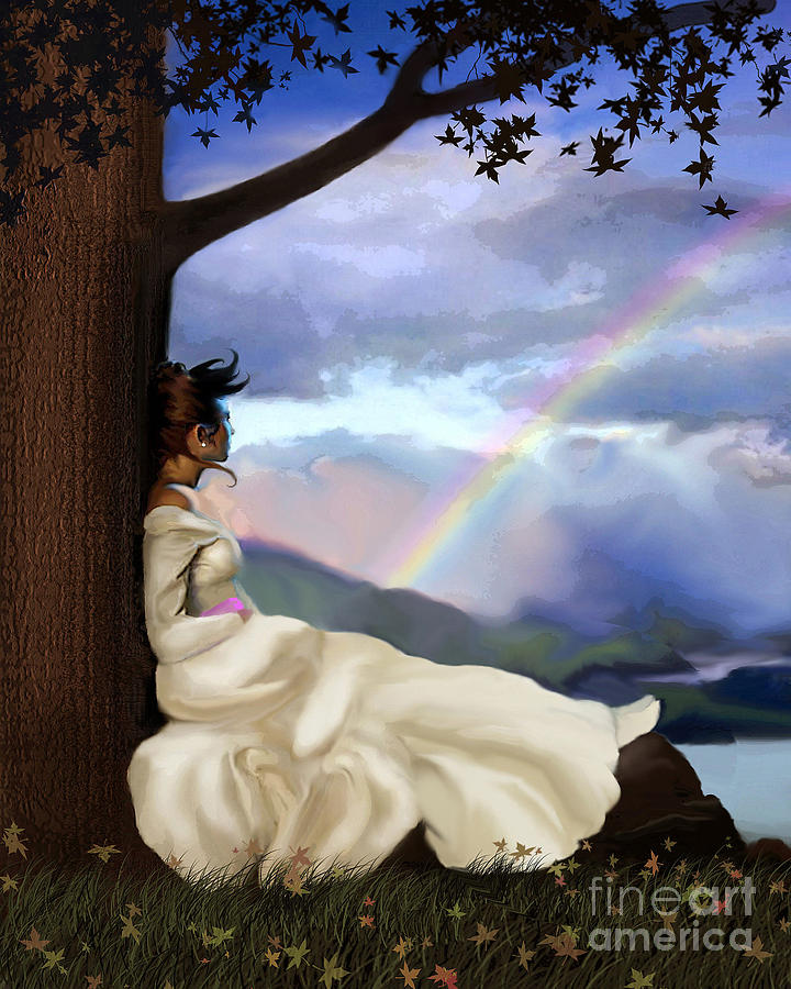 Landscape Painting - Rainbow Dreamer by Robert Foster