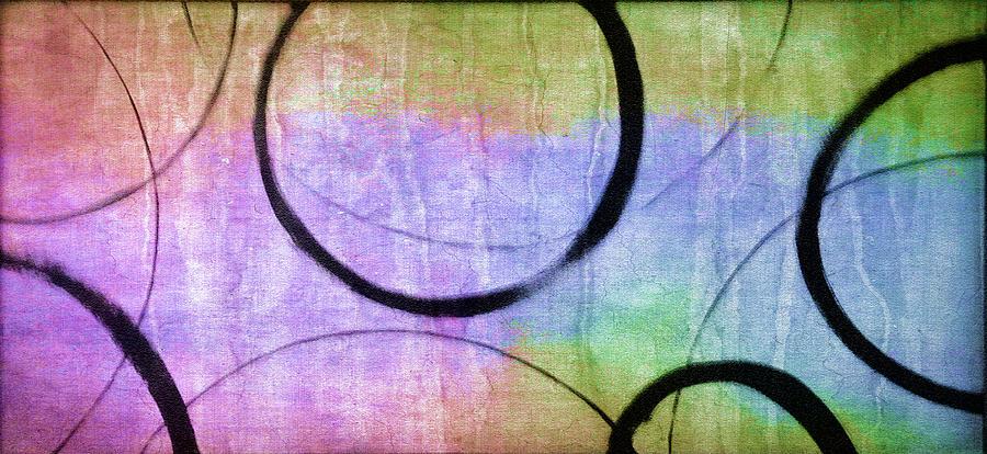 Rainbow Ensos Painting