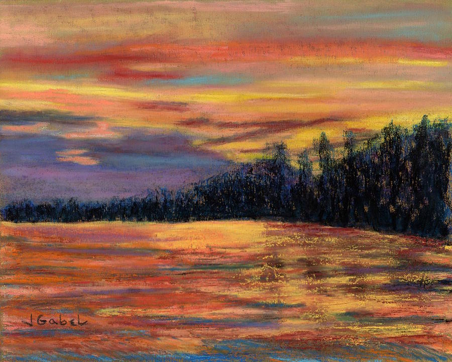 Pastel Pastel - Rainbow Evening by Laura Gabel