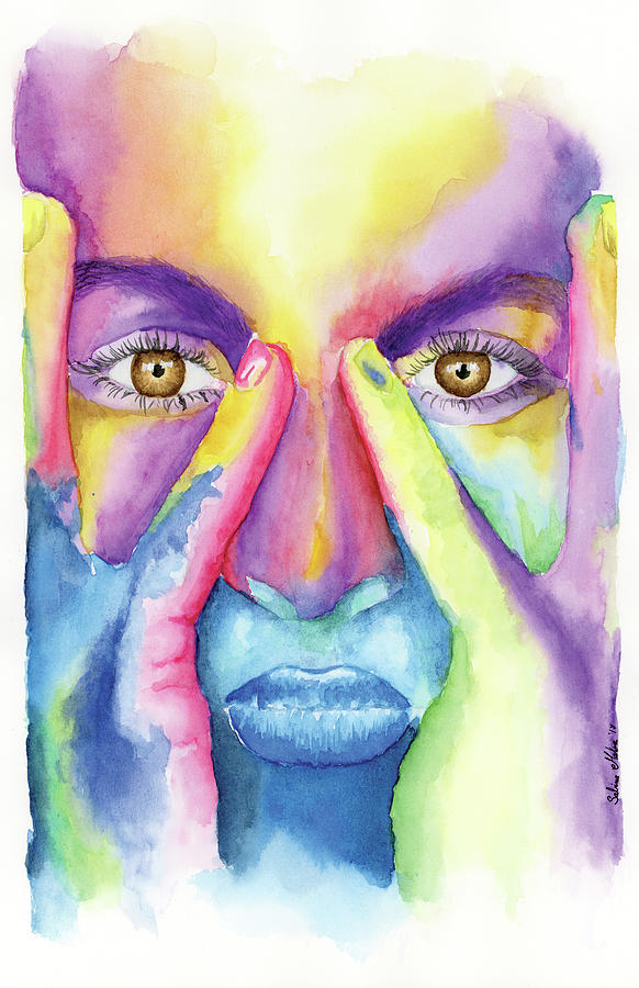 Image result for rainbow face