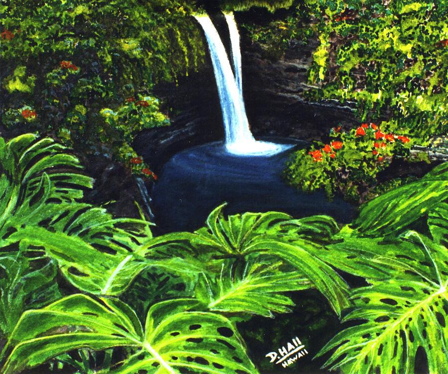 Rainbow Falls Painting - Rainbow Falls #83 by Donald k Hall
