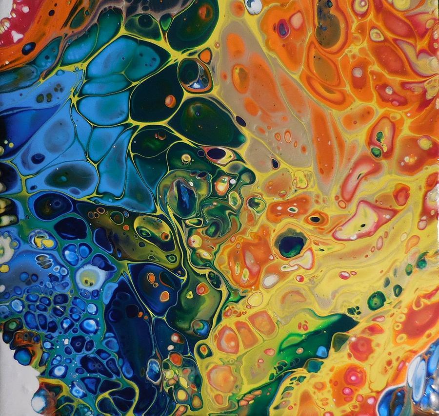 Rainbow Flow Mixed Media by Alexandra Class