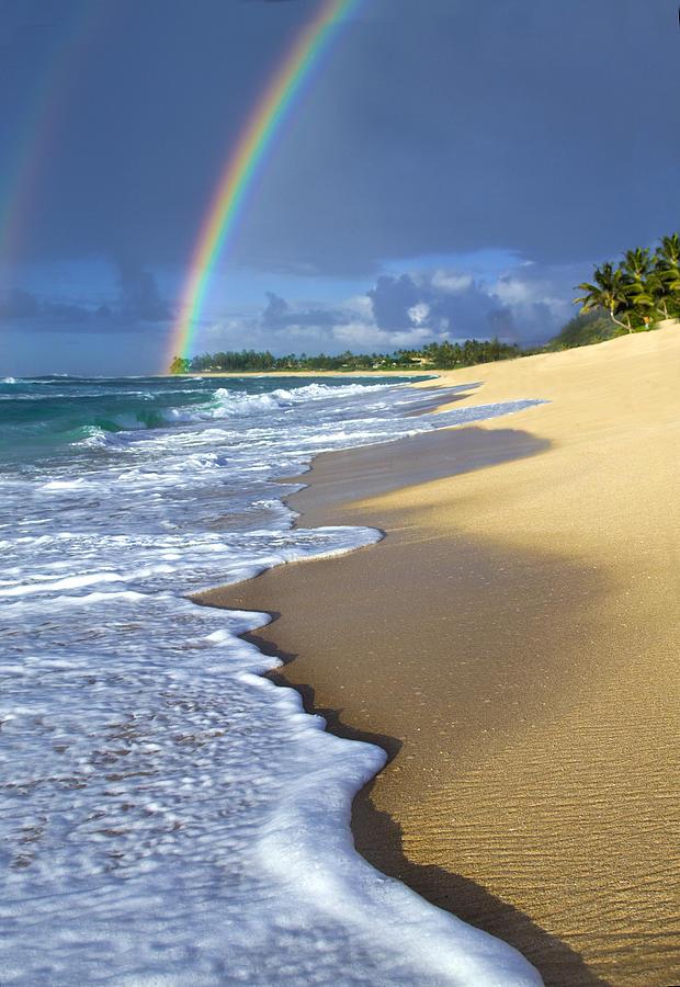 Rainbow Photograph - Rainbow Froth by Sean Davey