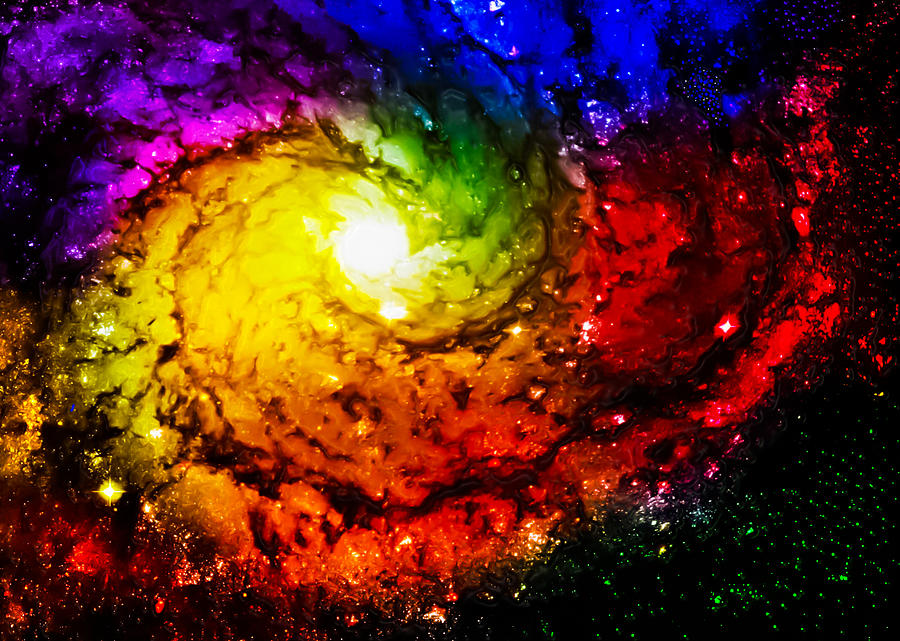 Rainbow Galaxy Photograph by Ron Fleishman