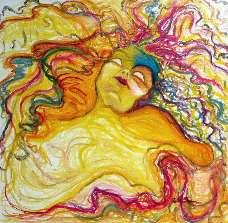 Goddess Painting - Rainbow Goddess by Erika Brown