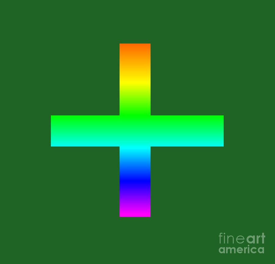 Rainbow Greek Orthodox Symbol Digital Art By Frederick Holiday