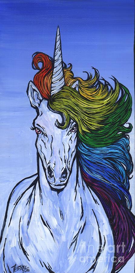 Rainbow Hair Unicorn by Tracy Levesque