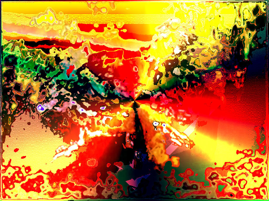 Horses Painting - Rainbow Horses by Piety Dsilva
