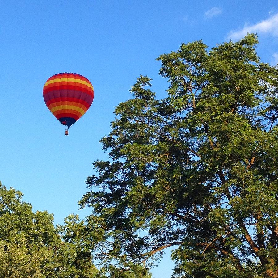 Rainbow Hot Air Balloon Ride by Lisa Blake