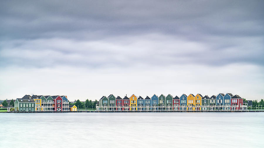 Houten Photograph - Rainbow Houses by Framing Places