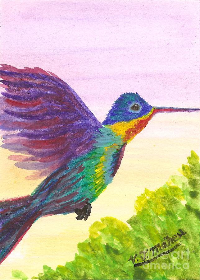 Rainbow Hummingbird by Vicki Maheu